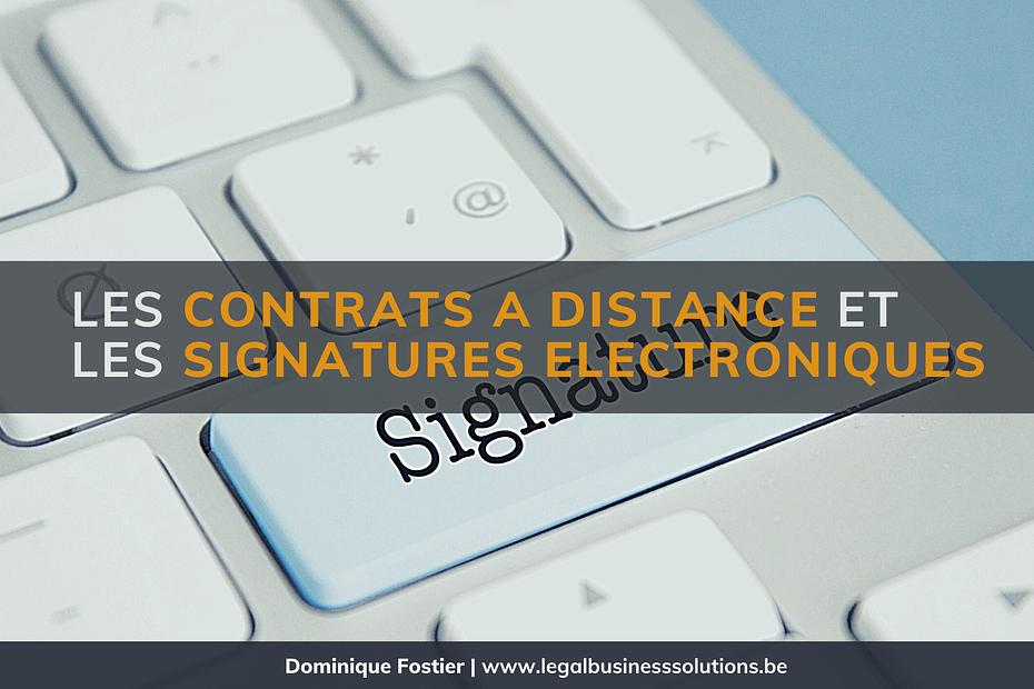 Contrats a Distance et LES Signatures Electroniques